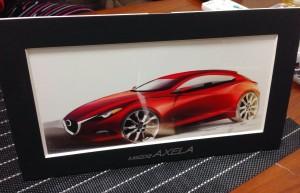 新型アクセラ 納車:デザインスケッチ