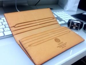 GANZO(ガンゾ)長財布 シンブライドル ファスナー付き束入れ ネイビー(内装)1
