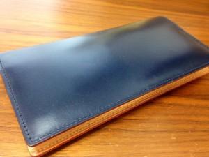 GANZO(ガンゾ)シンブライドル長財布(クリーム塗布)