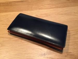 GANZO(ガンゾ)シンブライドル長財布6ヶ月経過(表)