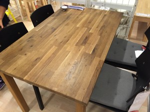 ダイニングテーブル(IKEA:EKENSBERG エーケンスベリ オーク)