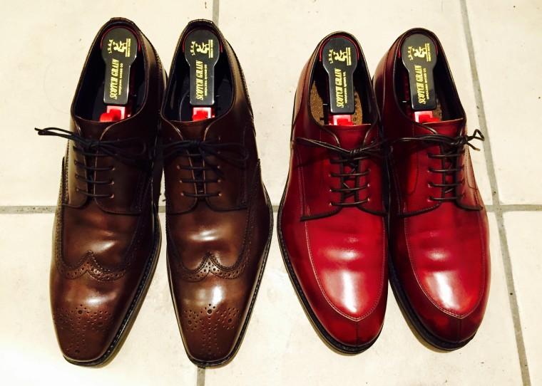 REGAL(リーガル)の革靴にスコッチグレインのシューキーパーを装着