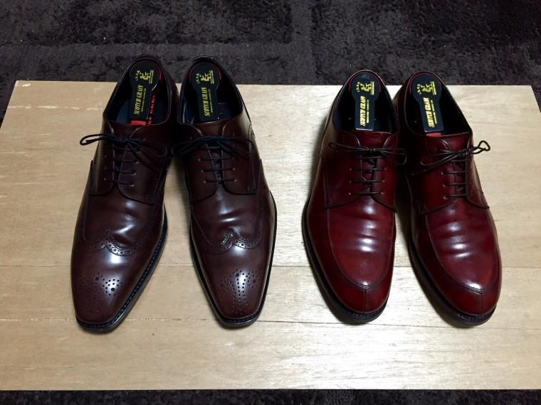 【ビフォー】リーガル12GR&06CR(靴磨き前)