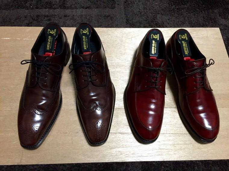 【アフター】リーガル12GR&06CR(靴磨き後)