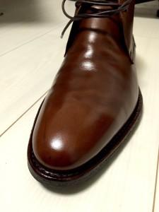 【靴磨き】ハイシャイン仕上げ挑戦(ジャランスリワヤ98322)1