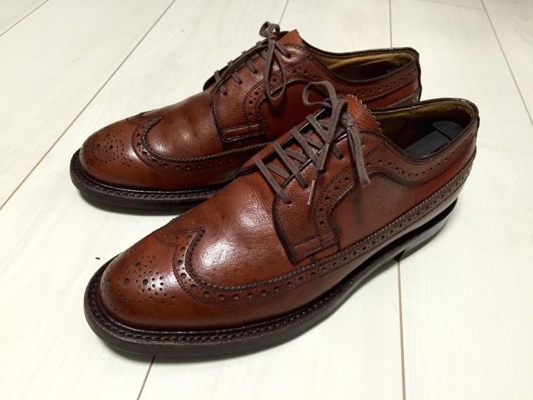 革靴にヤスリがけ後靴クリーム塗布(リーガル2235)3