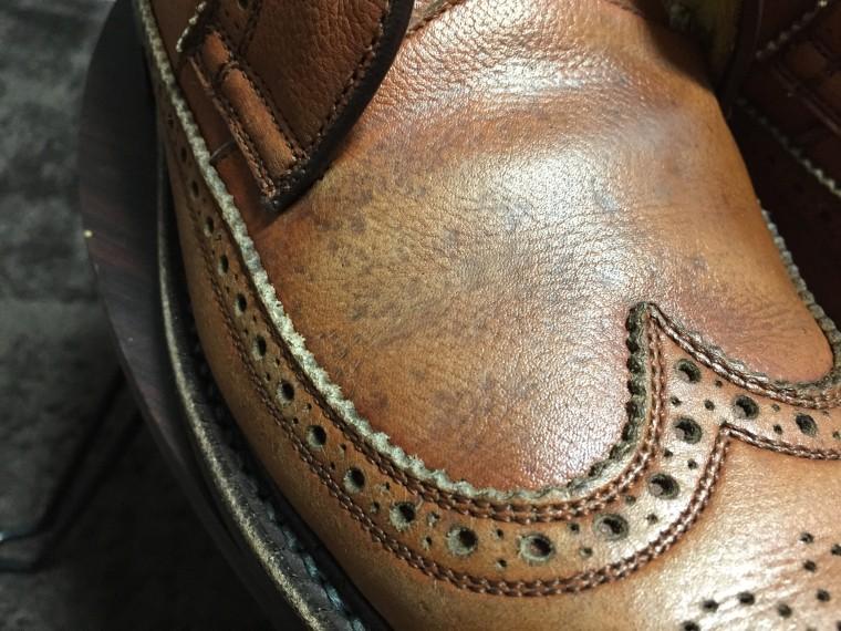 革靴水洗い後