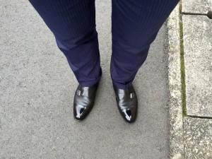 シェットランドフォックス ダブルモンク(黒)&スーツ(ネイビー)