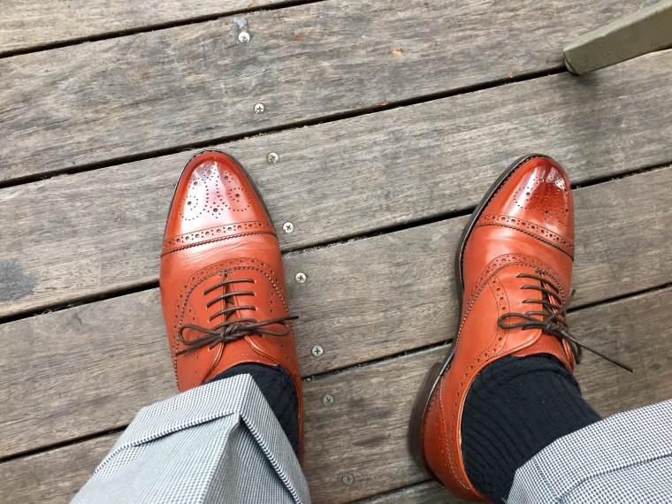 ロイドフットウェア セミブローグの履き皺