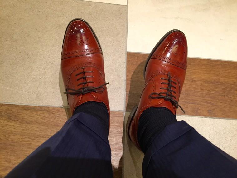 ロイドフットウェアのセミブローグが靴ずれ2
