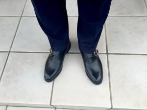 ロイドフットウェア モンクストラップ(Vシリーズ)×スーツ
