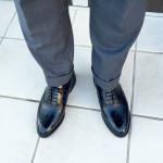 さっそくロイドフットウェアの黒のフルブローグを履いてみました