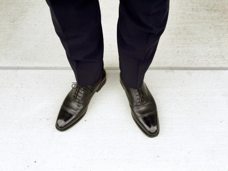スコッチグレイン シャインオアレインIV セミブローグ×スーツ