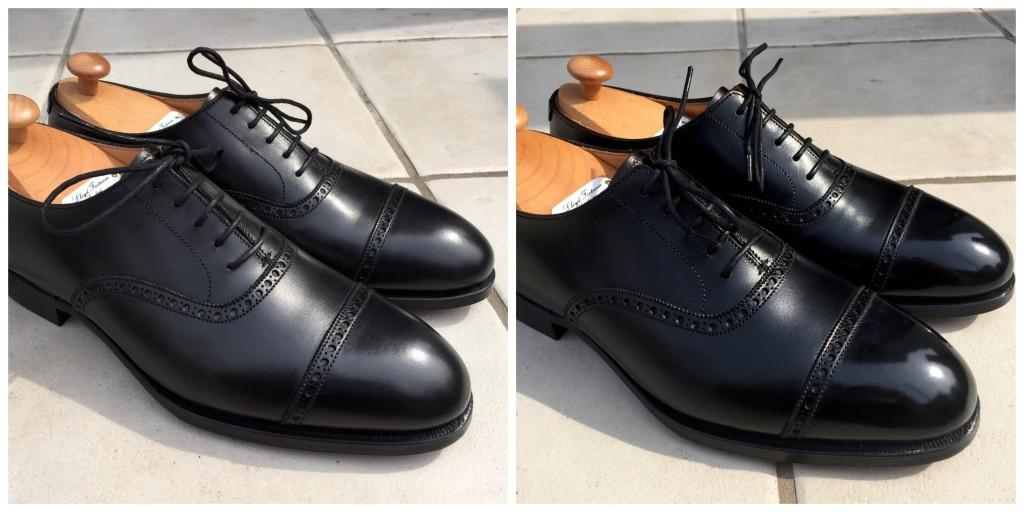 ロイドフットウェア マスターロイド クォーターブローグ(パンチドキャップ)WELHAM_靴磨きビフォーアフター