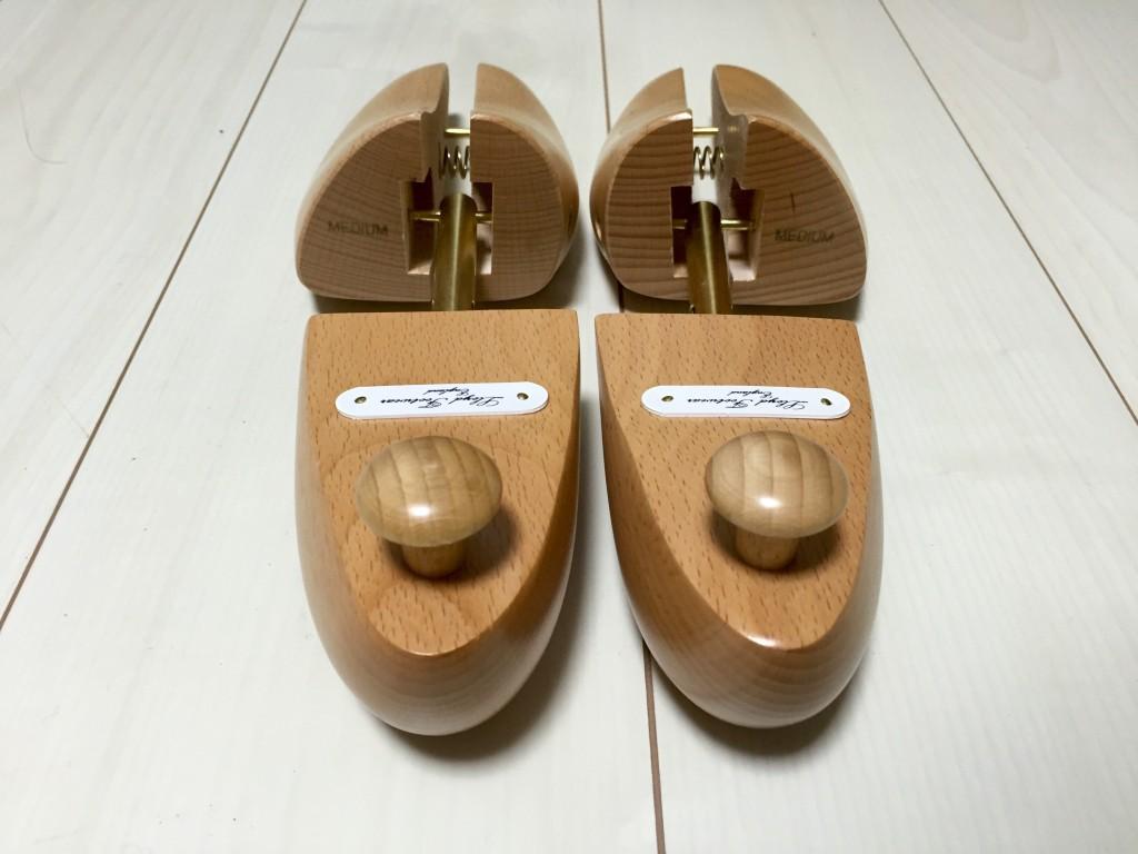 ロイドフットウェア純正木製シューツリーの踵部分