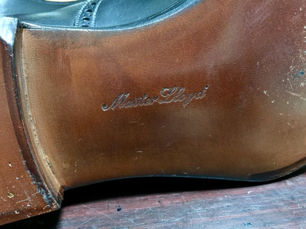 マスターロイド 靴底のマスターロイドの刻印