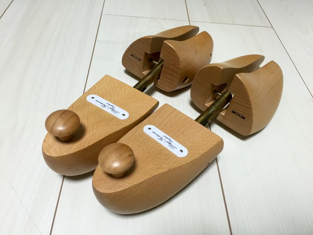 ロイドフットウェアの木製シューツリーをヤフオクで購入踵部分