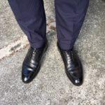 エドワードグリーン ドーバー 202とスーツのコーディネート