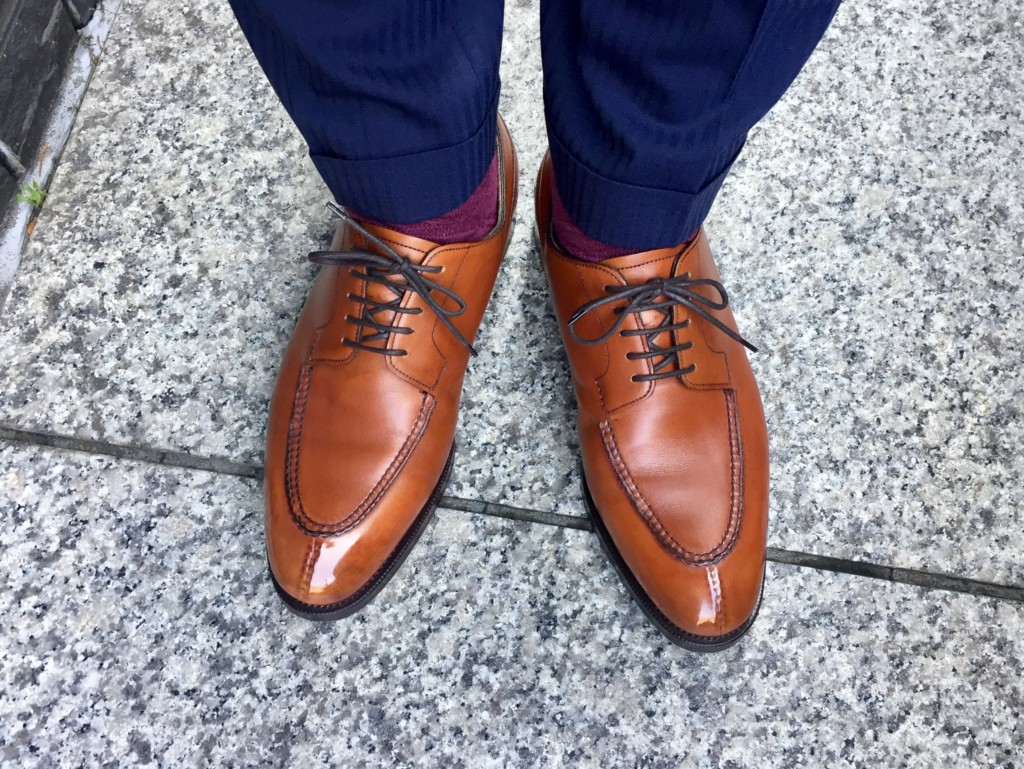 エドワードグリーン ドーバー(チェスナット)の履き皺