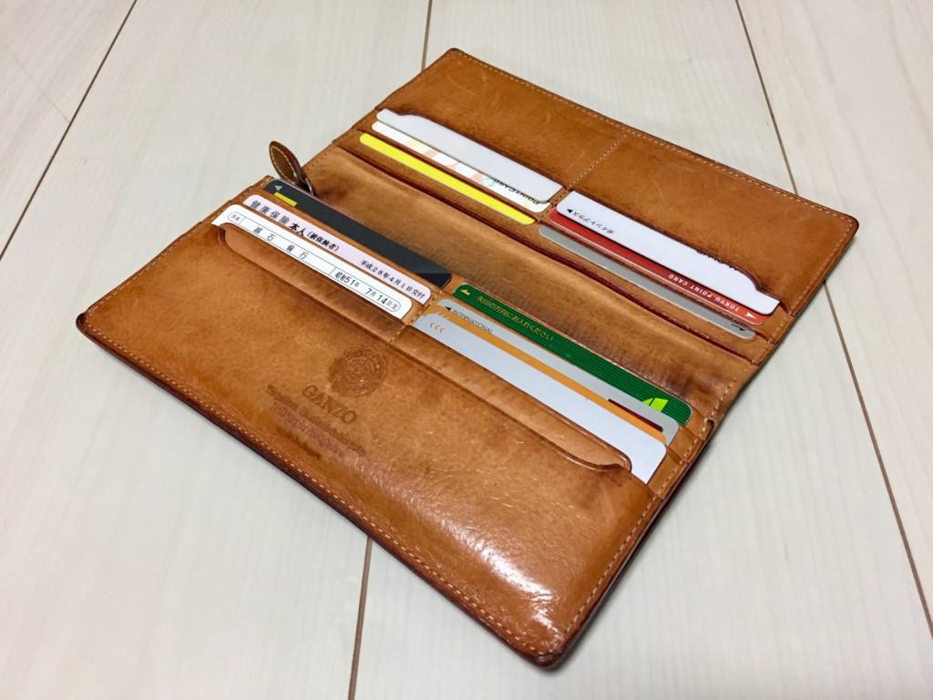 GANZO(ガンゾ)長財布 3年物の内装