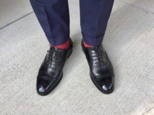 エドワードグリーン カドガンのスーツコーディネート