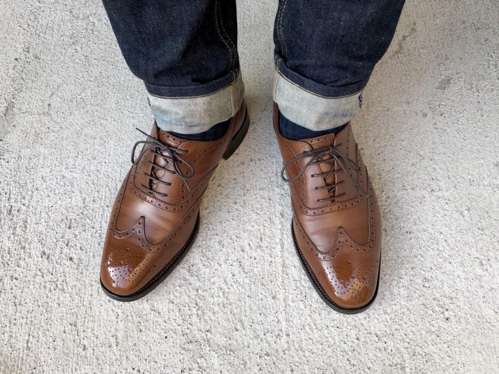 JMウェストン376の履き皺アップ