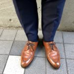 エドワードグリーン ドーバーのチェスナットとスーツ