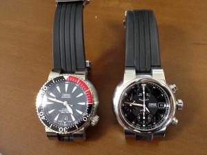 左:オリス・TT1 ダイバーチタンデイト、右:オリス・TT1 クロノグラフ 2枚目