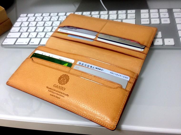 GANZO(ガンゾ)長財布 シンブライドル ファスナー付き束入れ ネイビー(内装)3