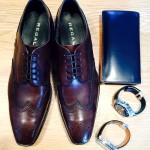 靴と時計と財布の写真(REGAL_TAGHeuer_GANZO)