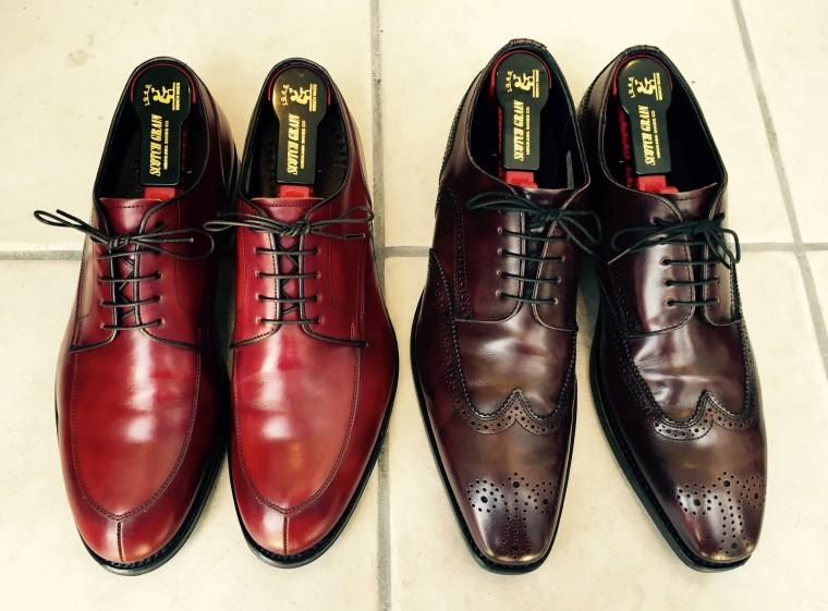 リーガル06CR&12GR靴磨き後