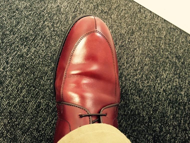 リーガル06CRの履き皺で靴擦れ
