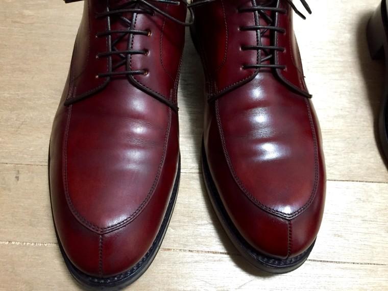 【靴磨き】リーガル06CR靴クリーム塗布