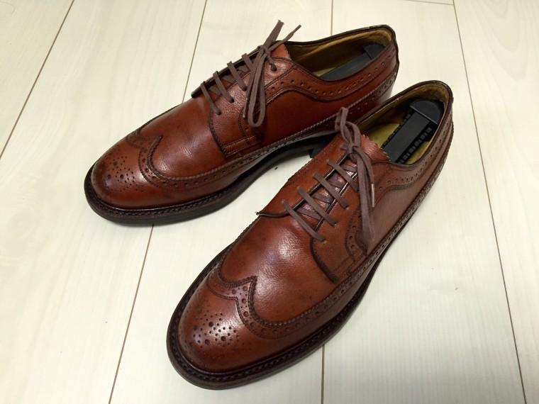革靴丸洗い 靴クリーム塗布後