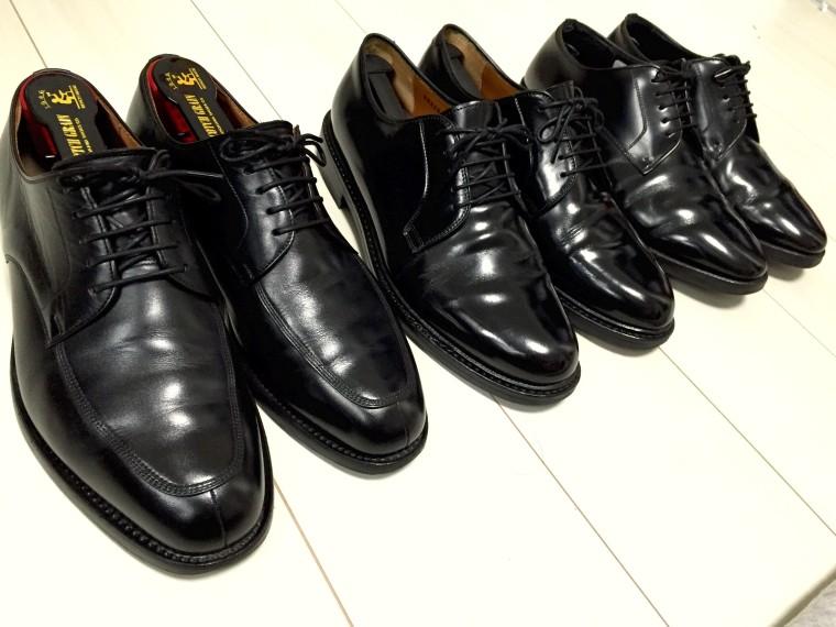 雨の日用革靴三兄弟_2