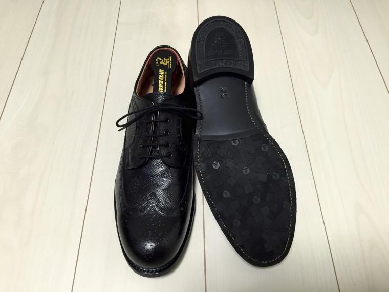 スコッチグレイン フルブローグ ジョルノ1675ブラック(靴底)