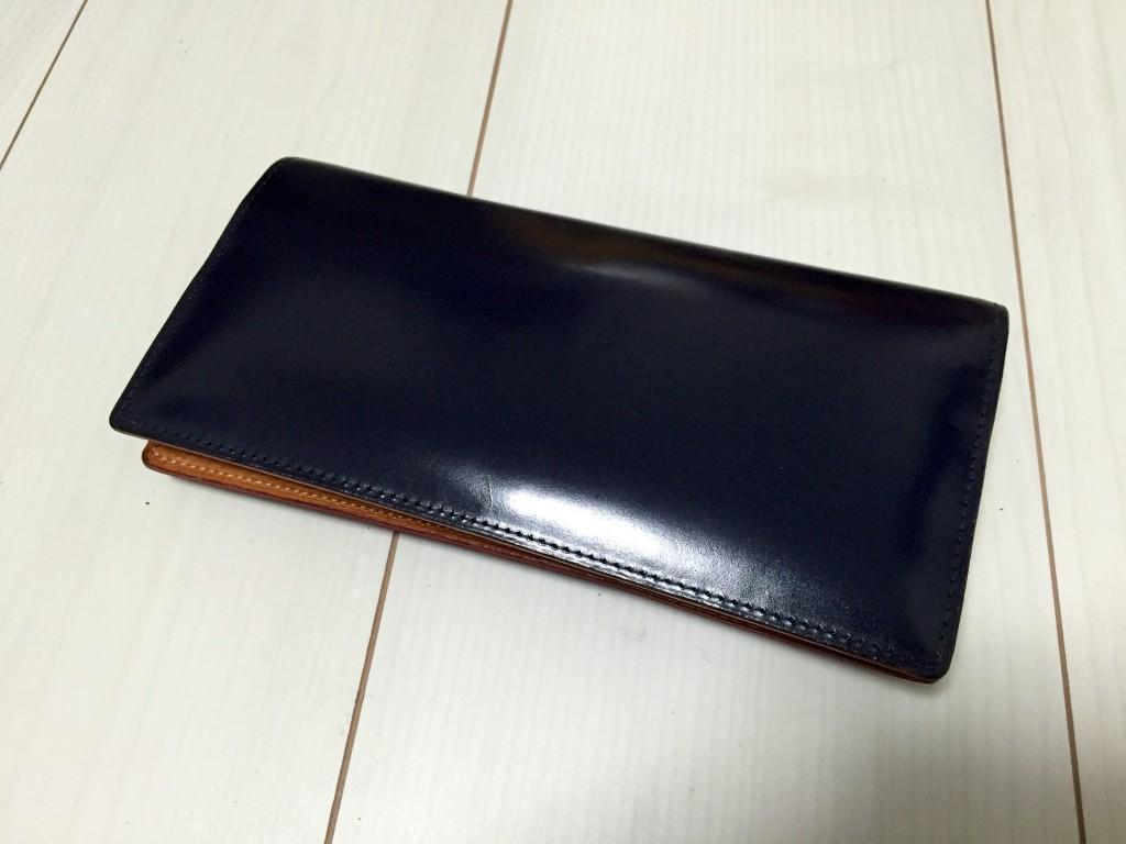 【1年経過】ガンゾ シンブライドル長財布エイジング(外装)