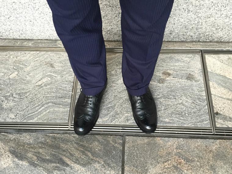 スコッチグレインロングウィングチップ&スーツ