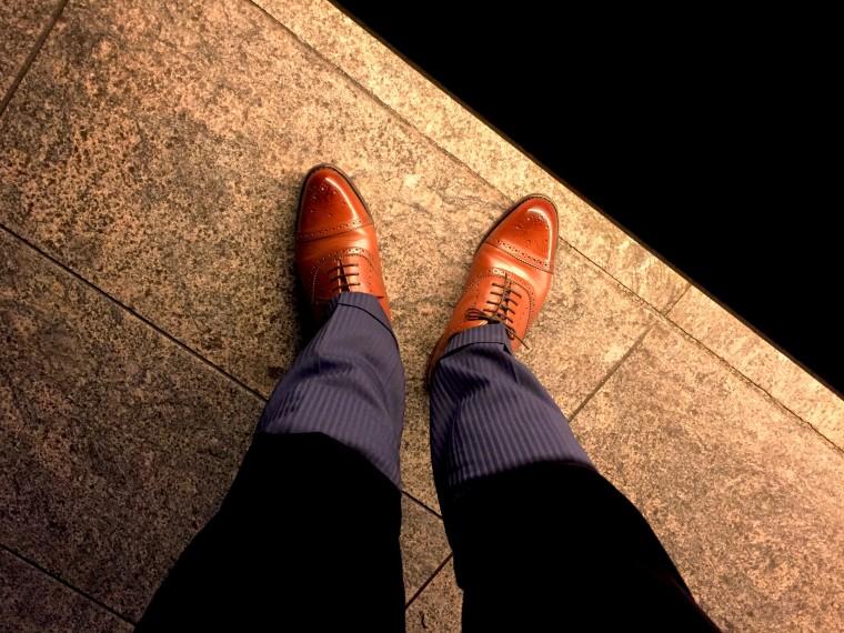 ロイドフットウェアのセミブローグが靴ずれ