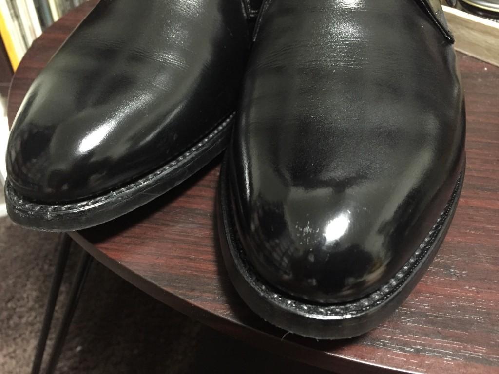 ロイドフットウェアのモンクストラップ靴磨き後