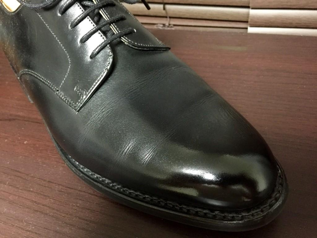 ロイドフットウェアVシリーズプレーントゥの履き皺