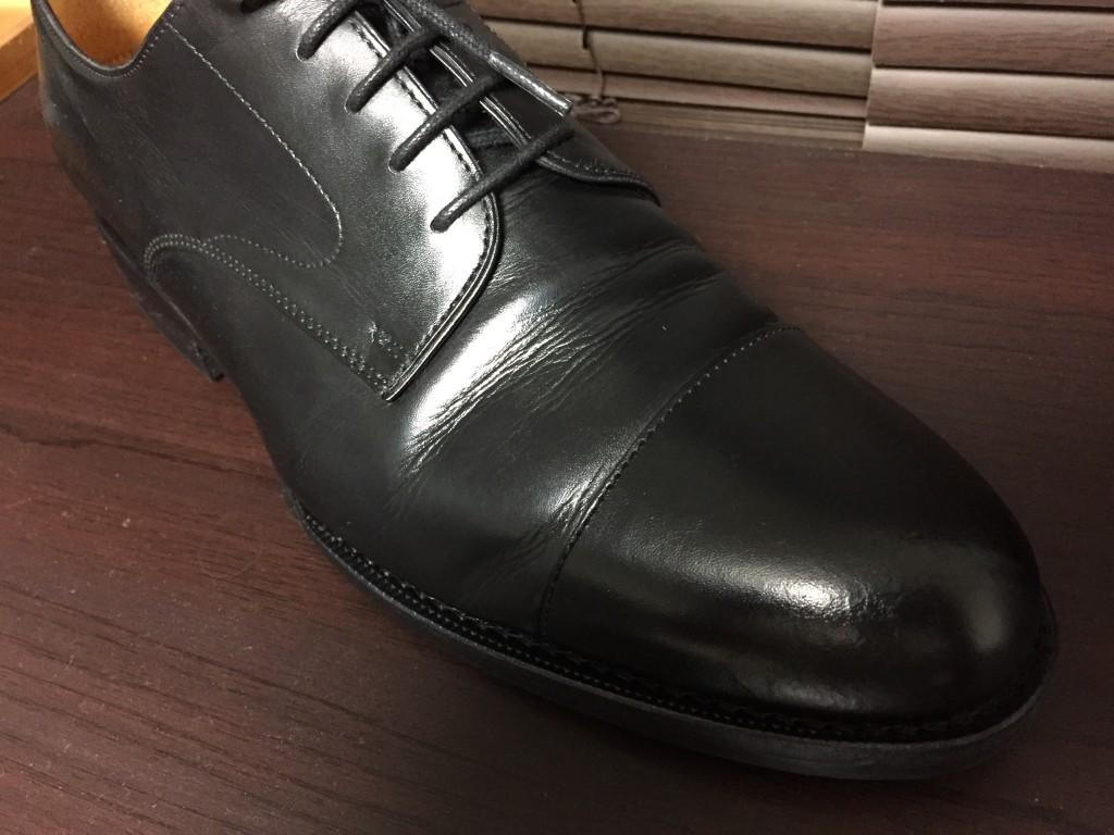 ジャランスリワヤ ストレートチップの履き皺