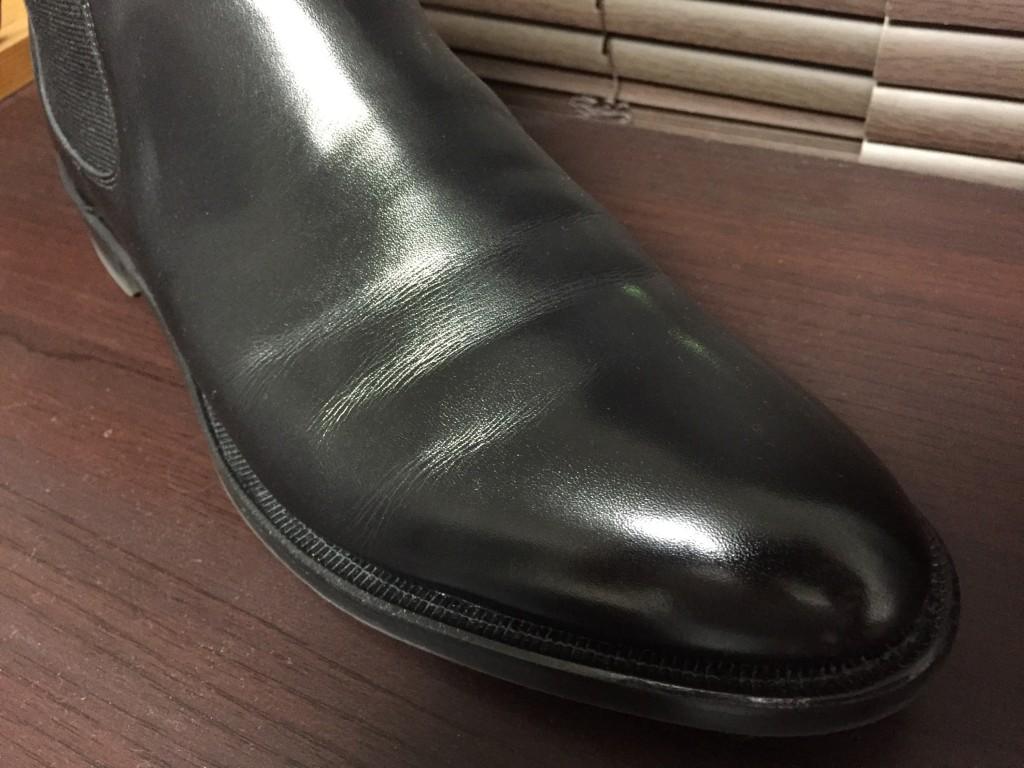 シェットランドフォックス サイドゴアブーツの履き皺