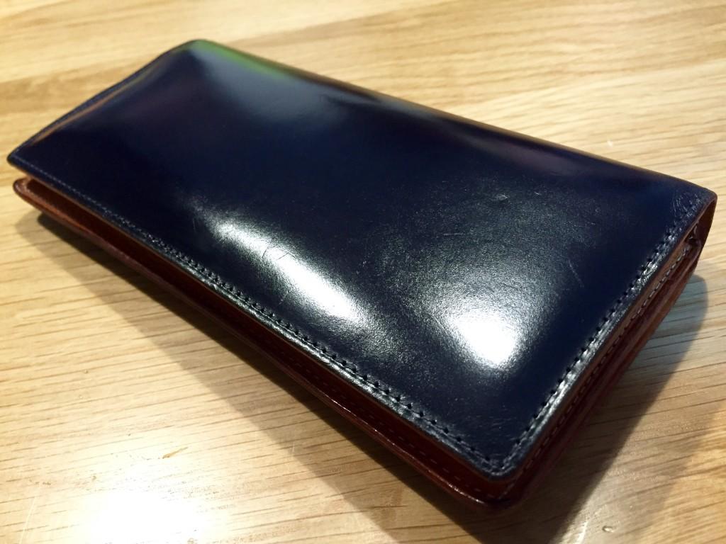 GANZO(ガンゾ)の長財布のエイジング_2年経過2