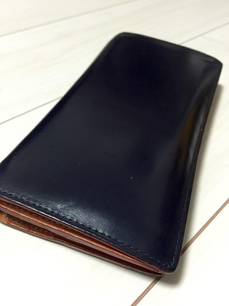 GANZO(ガンゾ)の長財布のエイジング_2年経過3