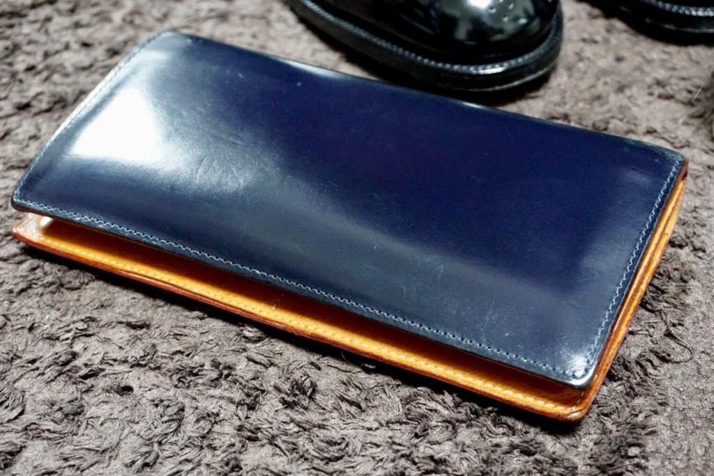 GANZO(ガンゾ)の長財布のエイジング3年物