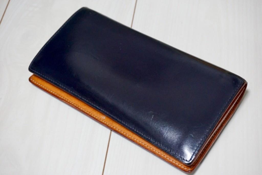 GANZO(ガンゾ)の長財布のエイジング3年物2