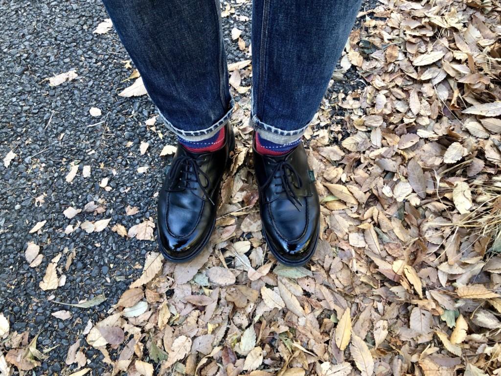 当日穿いていたAcne jeansとシャンボード