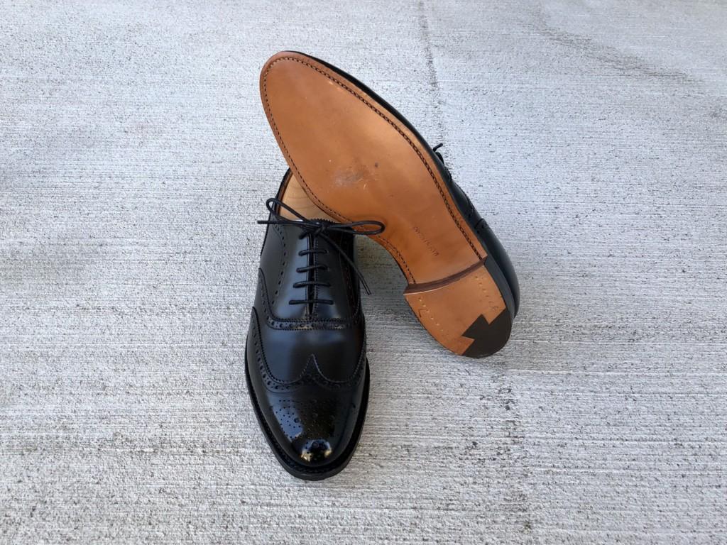ロイドフットウェア Mシリーズ フルブローグ(ブラック)_靴底
