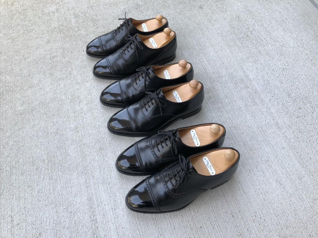 4月9日月曜日はマスターロイド3足を靴磨き
